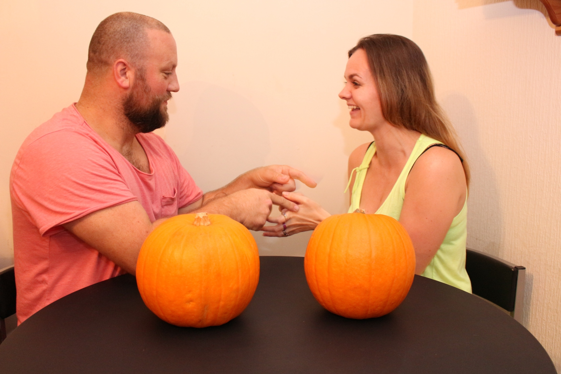 Couples Pumpkin Halloween Carving Contest