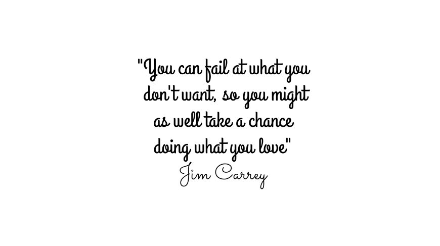 jim carrey quote you can fail at what you don't want