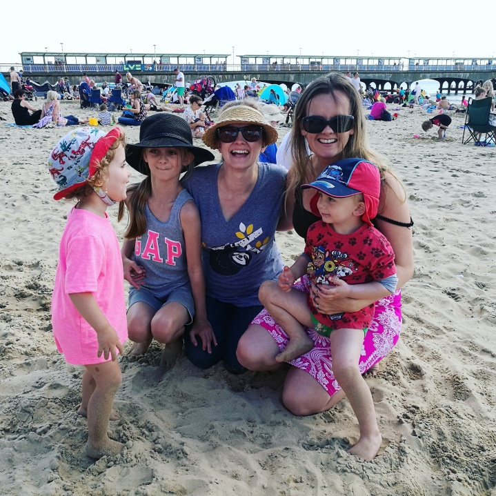 family day at Bournemouth beach