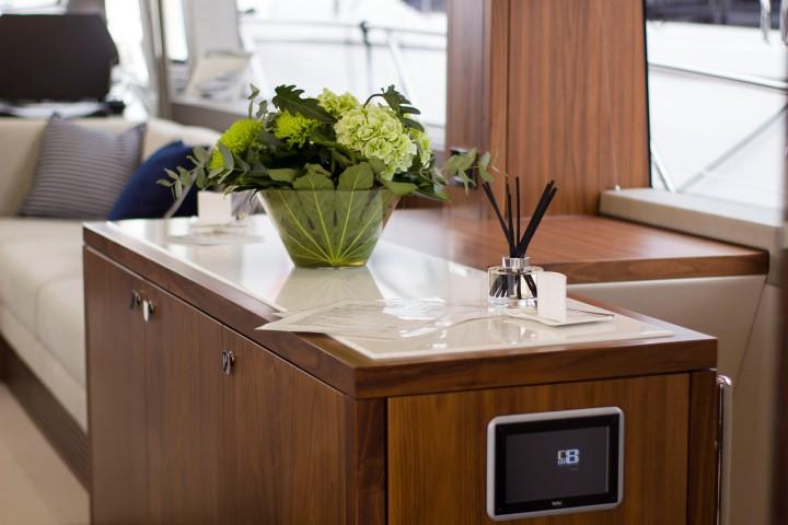 Inside a sunseeker yacht