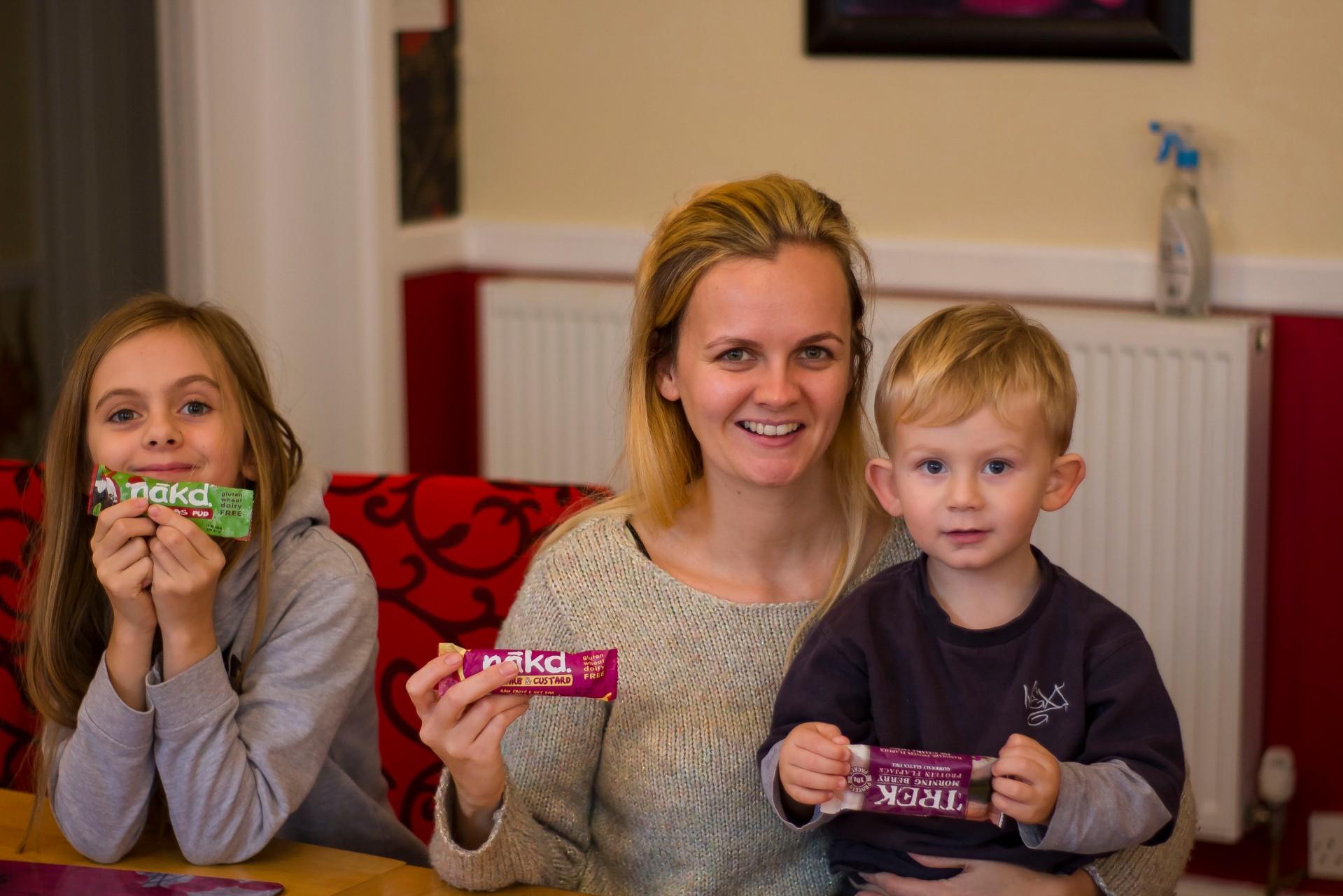 taste testing nakd healthy snacks with the family