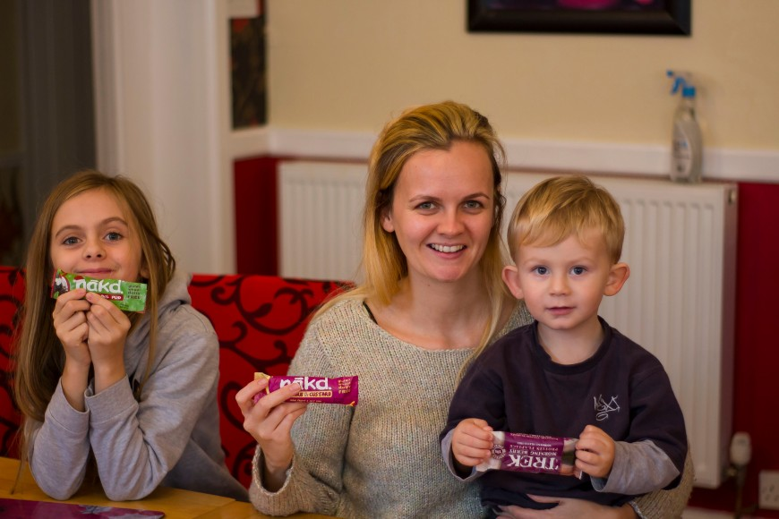 taste testing nakd healthy snacks with the family